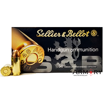 45 ACP (45 Auto) 230gr FMJ Sellier & Bellot Ammo