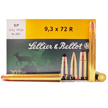 9.3x72R 193gr SP Sellier & Bellot Ammo Box (20 rds)
