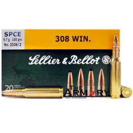 308 Winchester 150gr SPCE Sellier & Bellot Ammo Box (20 rds)
