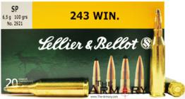 243 Winchester 100gr SP Sellier & Bellot Ammo Box (20 rds)