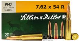 Buy This 7.62x54r 180gr FMJ Sellier & Bellot Ammo for Sale