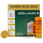 "12 GA 2-5/8"" 15-Shot Rubber Buck Shot Sellier & Bellot Ammo Box (25 rds)"