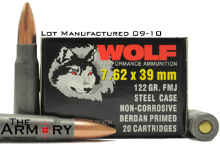 Buy This 7.62x39 122 gr FMJ Wolf Headstamped/Spec Ammo for Sale