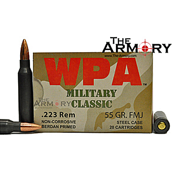 223 Remington (5.56x45mm) 55gr FMJ Wolf WPA MC Ammo Case (500 rds)
