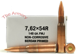 Buy This 7.62x54r 148 gr FMJ Novosibirsk Non-Corrosive Ammo for Sale
