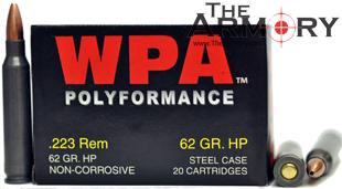 223 Remington (5.56x45mm) 62gr Hollow Point Wolf WPA Polyformance Box (20rds)