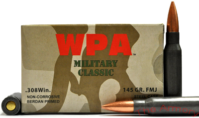 Buy This 308 Win (7.62x51mm) 145 gr FMJ Wolf MC Ammo for Sale