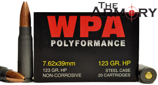 Buy This 7.62x39 123 gr HP Wolf Performance Ammo for Sale