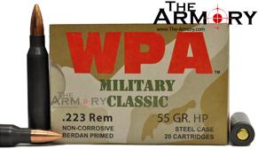 223 Remington (5.56x45mm) 55gr HP Wolf WPA MC Case (500rds)