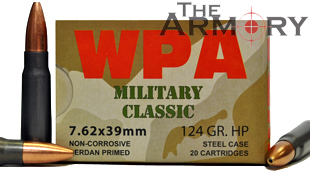 Buy This 7.62x39 124 gr HP Wolf MC Ammo for Sale