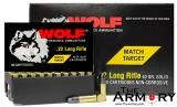 Buy This 22 LR 40 gr Wolf Match Target Solid Box Ammo for Sale