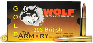 Buy This 303 British 150gr SP-BT Wolf Gold Ammo for Sale