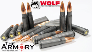 7.62x39 123gr FMJ Wolf Performance Ammo Battle Pack (200 rds)