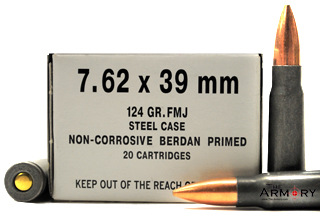 Buy This 7.62x39 124 gr FMJ Wolf Headstamped/Spec Ammo Ammo for Sale