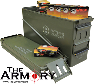 223 Remington (5 56x45mm) 55 gr FMJ Wolf Gold Ammo Case