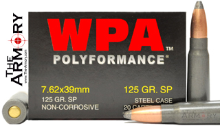 Buy This 7.62x39 125 gr SP (Soft Point) Wolf WPA Polyformance Ammo for Sale