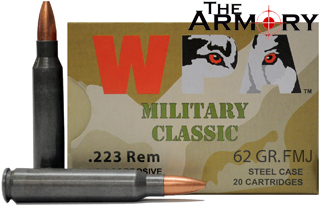 223 Remington (5.56x45mm) 62gr FMJ Wolf WPA MC Case (1000rds)