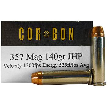 357 Mag 140gr JHP Corbon Ammo Box (20 rds)