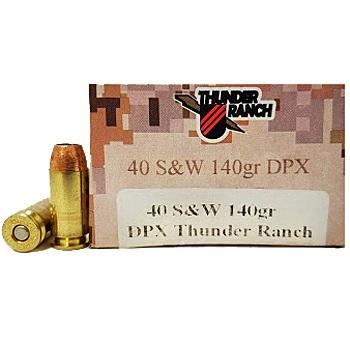 40 S&W 140gr DPX Thunder Ranch Corbon Ammo Box (20 rds)