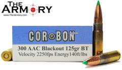 Buy This 300 AAC Blackout (300 BLK) 125gr BT CorBon Ammo for Sale