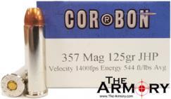 357 Mag 125gr JHP Corbon Ammo Box (20 rds)