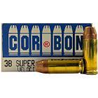 38 Super 125gr +P JHP Corbon Ammo Box (20 rds)