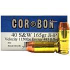 40 S&W 165gr JHP Corbon Ammo Box (20 rds)
