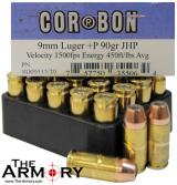 Buy This 9mm Luger (9x19mm) 90 gr +P JHP Corbon Ammo for Sale