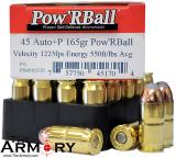 Buy This 45 ACP (45 Auto) 165 gr +P Pow'R Ball Corbon Ammo for Sale