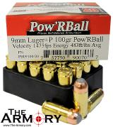 Buy This 9mm Luger (9x19mm) 100 gr +P Pow'R Ball Corbon Ammo for Sale