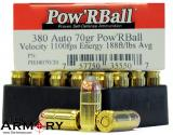 Buy This 380 Auto (ACP) 70 gr Pow'R Ball Corbon Ammo for Sale
