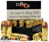 Buy This 45 ACP (45 Auto) 185 gr +P DPX Corbon Ammo for Sale