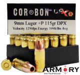 Buy This 9mm Luger (9x19mm) 115 gr +P DPX Corbon Ammo for Sale