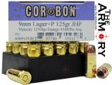 Buy This 9mm Luger (9x19mm) 125 gr +P JHP Corbon Ammo for Sale