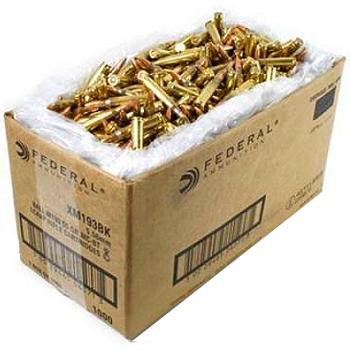 5.56x45mm 55gr FMJBT Federal American Eagle Ammo Case (1000 rds)