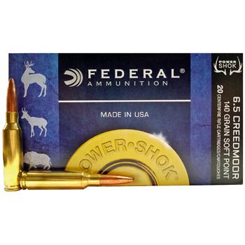 6.5 Creedmoor 140gr SP Federal Power-Shok Ammo Box (20 rds)