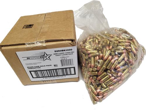 Federal Independence 9mm 115gr Federal Bulk Ammo
