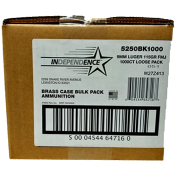 Federal Independence 9mm Bulk 1000 Rounds