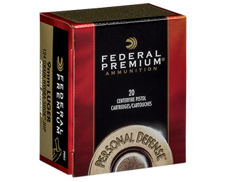 P9HS1 9mm Luger (9x19mm) 124gr JHP Federal Personal Defense Hydra-Shok Box (20 rds)