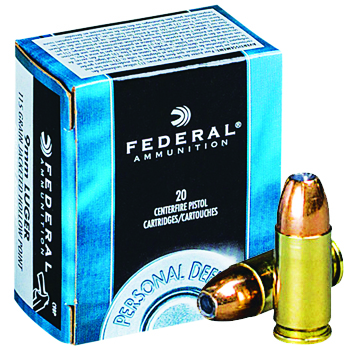 9mm Luger (9x19mm) 115 gr Federal Personal Defense JHP
