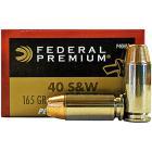 40 S&W 165gr Personal Defense Hydra-Shok JHP Federal Ammo Box (20 rds)