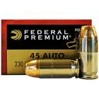 45 ACP (45 Auto) 230gr Personal Defense Hydra-Shok JHP Federal Ammo Box (20 rds)