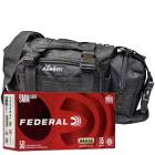 9mm 115gr FMJ Federal Champion Training Ammo - 350rds in The Armory Black Range Bag