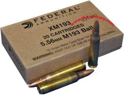 Buy This 223 Rem (5.56mm) Federal XM193, Lake City, 55 gr Box Ammo for Sale