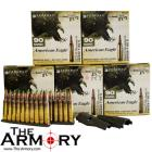 5.56x45mm 62gr FMJBT Federal American Eagle MSR Ammo Case Package (450 rds + 2 Spoons)