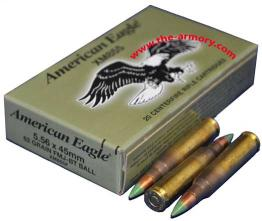 Buy This 223 Rem (5.56mm) Federal XM855, Lake City SS109, 62 gr Green Tip Steel Penetrator 20 Rds Box Ammo for Sale