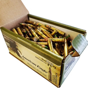 5.56x45mm 62gr FMJBT Federal American Eagle MSR Ammo Case (600 rds)