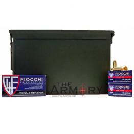 9mm Luger (9x19mm) 115gr FMJ Fiocchi - 1000rds in 50 Cal Ammo Can