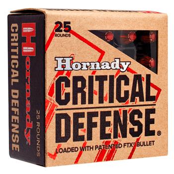 357 Mag 125gr FTX Hornady Critical Defense Ammo Box (25 rds)