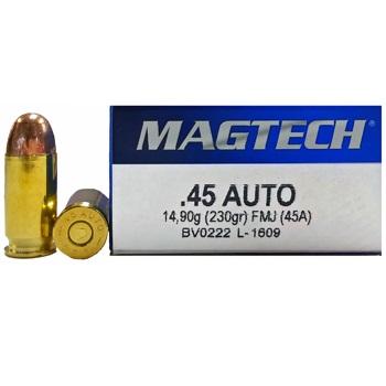 45 ACP (45 Auto) 230gr FMJ Magtech Ammo Case (1000 rds)